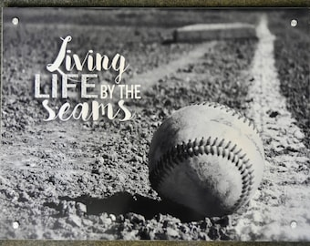 Metal Baseball Sign, Wall Sign, Baseball Decor, Max Metal Sign, Photo by Abby Smith, Baseball Photography, Infinite Graphics, Baseball Art