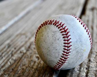 Baseball Wall Decal, Baseball Decor, Baseball Photography, Baseball, Photo by Abby Smith, Infinite Graphics, Vinyl Wall Graphics, Removable