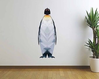 Penguin Wall Decal, Polygonal Penguin, Home Decor, Wall Art, Vinyl Sticker, Penguin Sticker, Infinite Graphics, Modern Art, Polygonal Art