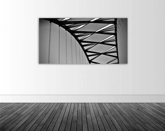Architectural Photo, BW Photo, Vinyl Wall Decal, Home Decor, Wall Art, Bridge Photo, Photo by Abby Smith, Infinite Graphics, Wall Graphics