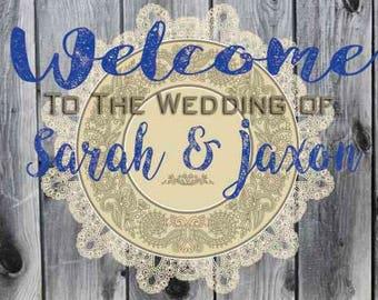 Wedding Banners, Vinyl Wedding Banner, Wedding Directional Banner, Infinite Graphics, Vinyl Graphics, Wedding Signs, Wedding Decor, Wedding