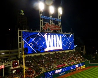 Indians Baseball Decal, Cleveland Indians, Cleveland Baseball, Vinyl Graphics, Wall Decal, Progressive Field, Photo by Abby Smith, Baseball