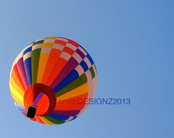 Hot Air Balloon Photography, Balloon Photo, Wall Art, Home Decor, Vinyl Wall Decal, by Abby Smith