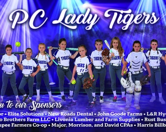 Athletic Banner, Team Sports Banners, Vinyl Team Banner, Softball Team Banner, Outdoor Game Banner, Sponsor Banners, Player Banner, Banners
