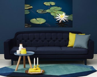 Waterlily Wall Decal, Waterlily Decor, Vinyl Wall Decal, Photo by Abby Smith, Home Decor, Floral Wall Decal, Wall Sticker, Waterlily Mural