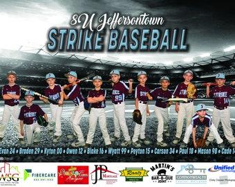 Softball Banner, Sports Banner, Vinyl Banner, Custom Banner, Event Banner, Team Banner, League Banners, Tournament Banners, Photo Banners