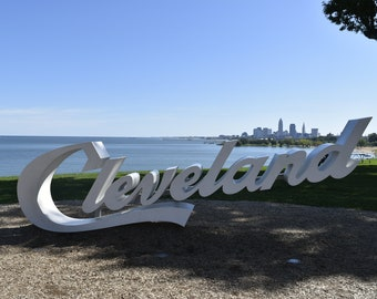 Cleveland Decal, Edgewater Park, Cleveland Photography, Vinyl Wall Decal, Home Decor, Cleveland Sign, Peel and Stick Decal, Cleveland Art