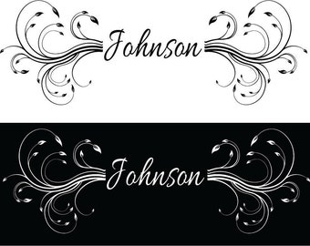 Wall Decal, Family Name Decal, Vinyl Wall Decal, Personalized Wall Decal, Silhouette Wall Decal, Name Sticker, Removable Decals