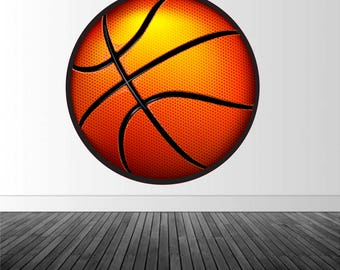 Basketball Wall Decal, Basketball Wall Sticker, Vinyl Wall Decal, Sports Decor, Basketball Decor, Infinite Graphics, Removable Decal
