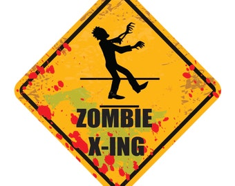 Zombie Wall Decal, Zombie Apocalypse Decal, Removable Wall Art, Vinyl Sticker, Zombie Graphics, Infinite Graphics, Interior Wall Decal