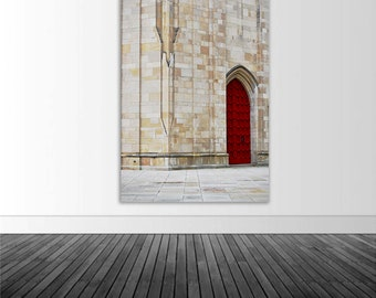 Red Door Photo Decal, Vinyl Wall Decal, Cathedral Of Learning, Photo by Abby Smith, Infinite Graphics, Home Decor, Vinyl Graphics, Photo Art