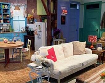 Friends Backdrop Banner, Monica's Apartment, Vinyl Banner, Full Color Print, Photo Back Drop, Friends Photo Backdrop, Monica Geller, Banner