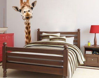 Nursery Giraffe Decal, Zoo Animal Decal, Giraffe Photography, Vinyl Wall Decal, Giraffe Head Decal, Giraffe Home Decor, Nursery Giraffe, Art