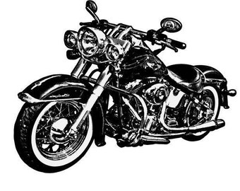 Motorcycle Wall Decal, Vinyl Wall Decal, Removable Wall Decal, Wall Art, Vinyl Decal, Removable Sticker, Vinyl Graphics, Infinite Graphics