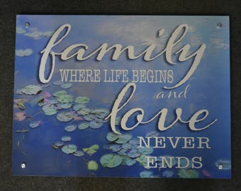 Metal Photo Sign, Family Sign, Signs with Quotes, Waterlily Photography, Photo by Abby Smith, Infinite Graphics, Photo Signs, Home Decor,