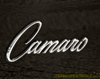 Classic Camaro Wall Decal, Camaro Wall Decal, Vintage Car Collector, Industrial Photo, Automotive Decal, Father's Day Gift, by Abby Smith