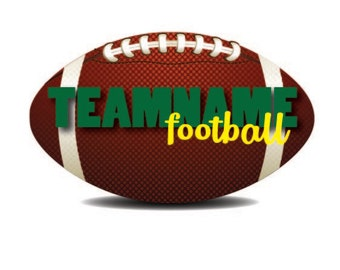 Football Wall Decal, Personalized Team Decal, Vinyl Wall Decal, Football Decal, Custom Football Decal, Infinite Graphics, Interior Decal