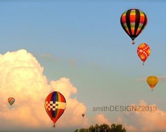 Hot Air Balloons, Photography, Balloon Photography, Home Decor, Vinyl Wall Decal, by Abby Smith
