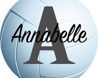 Personalized Volleyball Decal, Volleyball Wall Decal, Volleyball Sticker, Customized Decal, Vinyl Wall Decal, Sports Decor, Volleyball Art