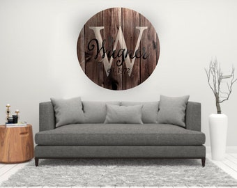 Rustic Wood Decal, Monogram Decal, Personalized Decal, Monogram Sign, Vinyl Wall Decal, Monogram Decor, Home Decor, Wedding Decor, Decal