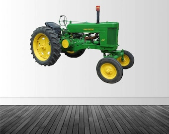Green Tractor Decal, Tractor Wall Decal, Vinyl Wall Decal, Farm Decor, Infinite Graphics, Vinyl Wall Graphics, Large Stickers, Green Tractor