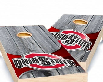 Ohio State Corn Hole, Corn Hole Decals, Ohio State Sticker, Custom Cornhole Wrap, Infinite Graphics, Vinyl Graphics, Bean Bag Toss Stickers