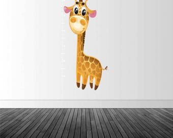 Growth Chart Decal, Giraffe Growth Chart, Children's Growth Chart, Vinyl Wall Decal, Nursery Decal, Baby's Room Decor, by Abby Smith