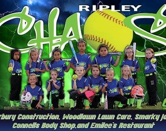 Athletic Banner, Team Sports Banners, Vinyl Team Banner, Softball Team Banner, Outdoor Team Sign, Sponsor Banners, Player Banner, Banners