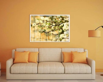 Tree Photography, Stained Glass Photo, Spring Photography, Home Decor, Photo by Abby Smith, Cherry Blossom Tree, Blossoming Tree Photo, Art