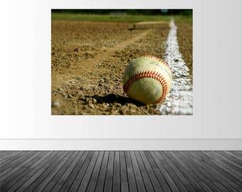 Baseball Wall Decal, Baseball Decor, Sports Room Decal, Baseball Art, Vinyl Decals, Photo by Abby Smith, Infinite Graphics, Vinyl Graphics