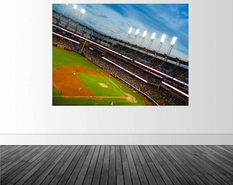 Indians Baseball, Baseball Decal, Indians Wall Mural, Progressive Field Decal, Photo by Abby Smith, Vinyl Wall Decal, Vinyl Graphics, Mural