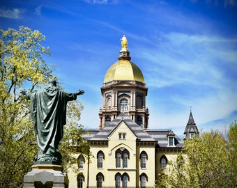 Notre Dame Decal, University, Decal, Golden Dome Decal, Fighting Irish Decal, Home Decor, Notre Dame Decor, Vinyl Wall Decal, by Abby Smith