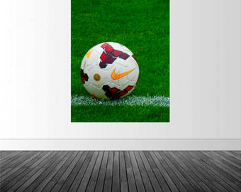Soccer Ball Wall Decal, Soccer Ball Decor, Boy's Bedroom Art, Vinyl Mural, Removable Wall Sticker, Soccer, Sport Decor, Photo by Abby Smith