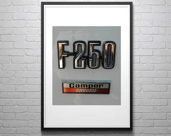 F-250 Photography, Vintage Truck Photo, Ford Photography, Ford Truck Photo, Truck Decor,Man Cave, Photo by Abby Smith, Unframed Truck Print