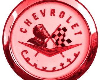 Red Corvette Wall Decal, Retro Corvette Decor, Chevy Corvette Decal, Corvette Wall Sticker, Home Decor, Automotive Decor,  Corvette Wall Art