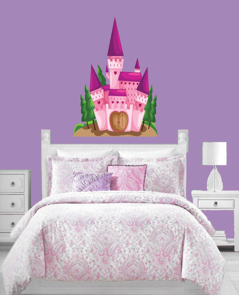 Princess Castle Wall Decal, Girls Bedroom Decal, Wall Decal ...