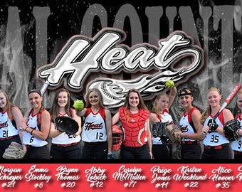Custom Team Banner, Photo Banners, Team Banners, Business Banner, Event Banners, Team Signs, Customized Banners, Photo and Logo Banner, Sign