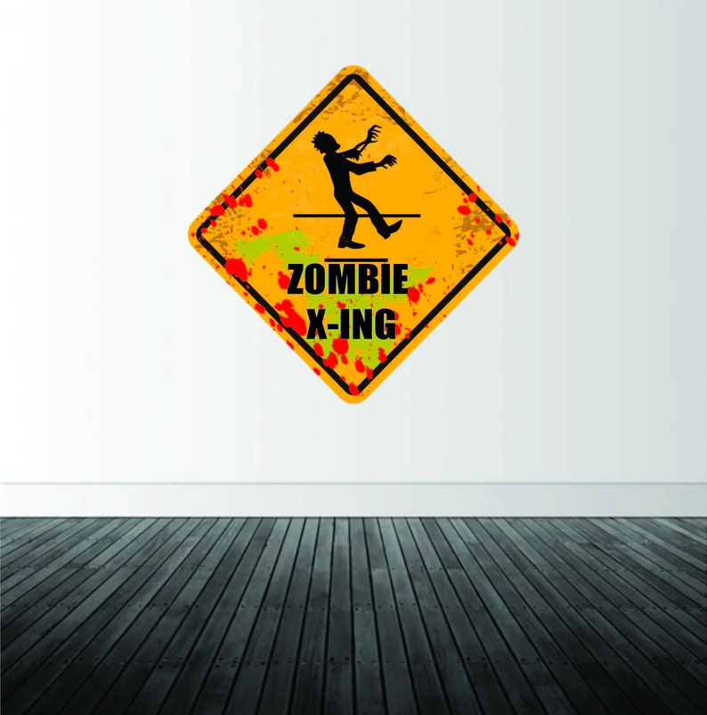 Zombie Wall Decal Zombie Apocalypse Decal Removable Wall ...