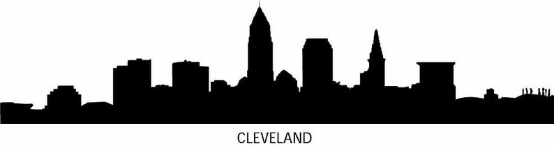 Skyline Silhouette City Skyline Decal City Wall Decals Cleveland NYC Vinyl Wall Decals Infinite Graphics Art Miami Skyline Detroit