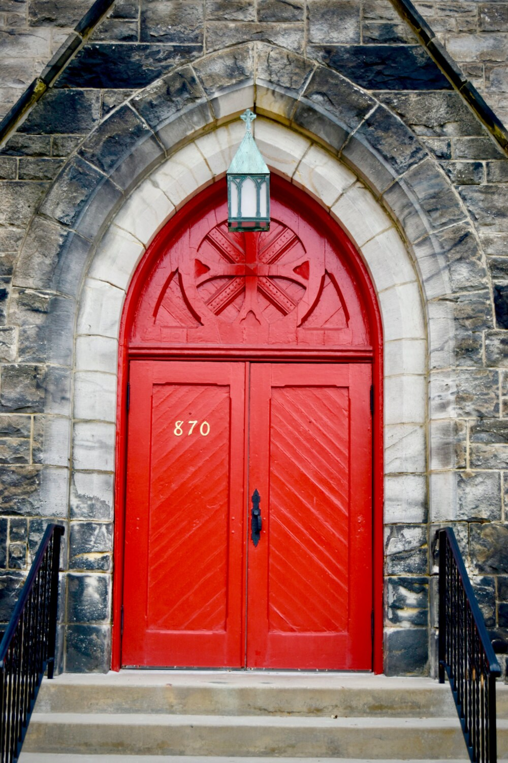 Door Photo Decal Photography Decal Red Door Vinyl Wall Decal