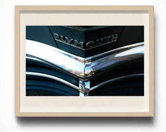 Classic Plymouth, Automotive Photography, Vintage Car Photo, Gift for Men, Man Cave Decor, Photo by Abby Smith, Vintage Car Art Print