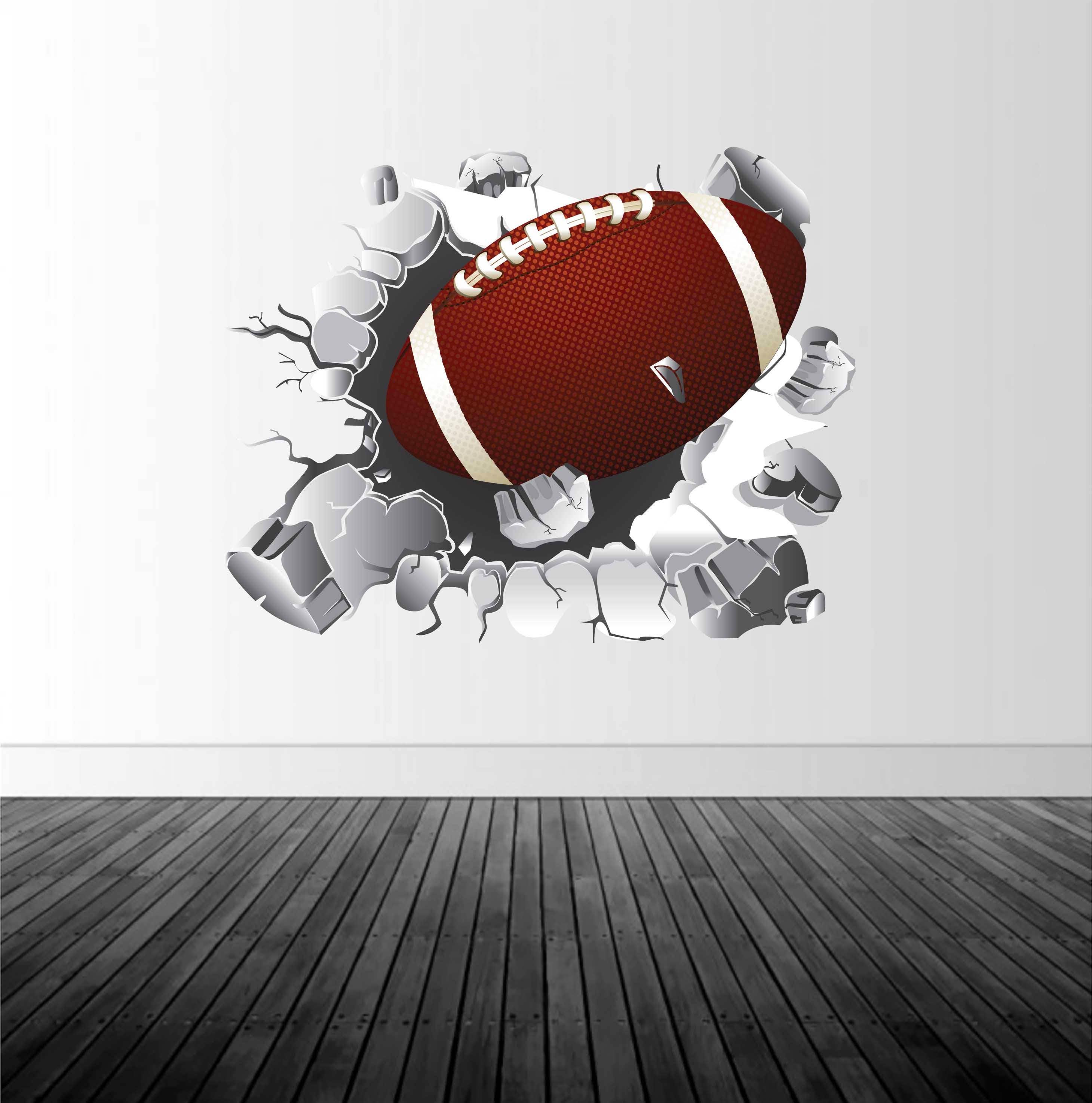 Football Wall Decal, Football Decor, Vinyl Wall Graphics