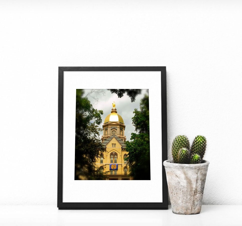 University of Notre Dame The Golden Dome Home Decor ND  fe5f95229dbbd