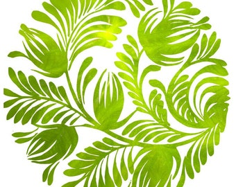 Home Decor, Vinyl Wall Decal, Wall Sticker, Leaf Decal, Leaf Texture, Floral Decal, Infinite Graphics, Wall Graphics, Office Decor, Wall Art
