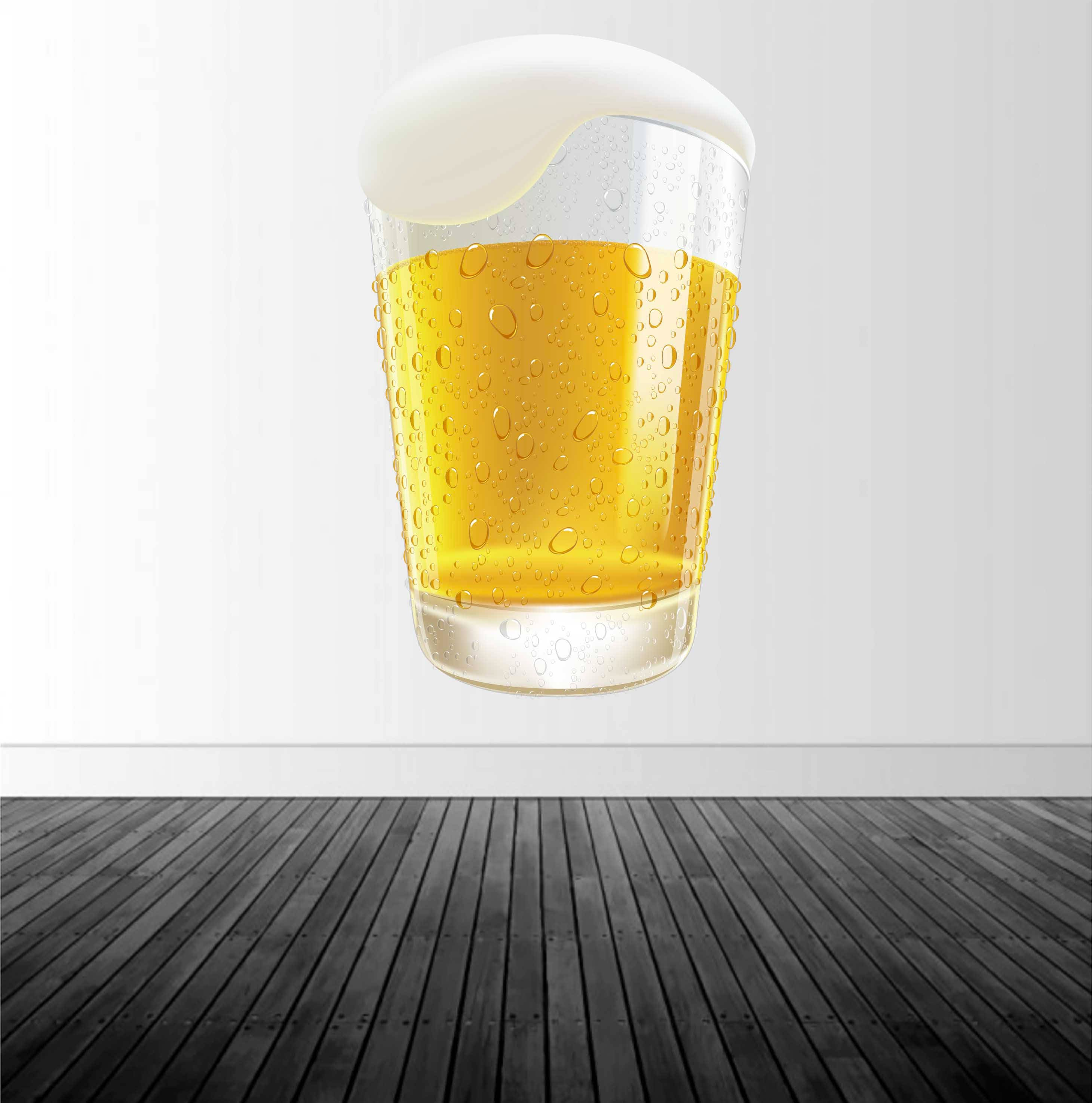 Beer Wall Decal, Bar Decor, Beer Glass Decal, Vinyl Wall Decal ...