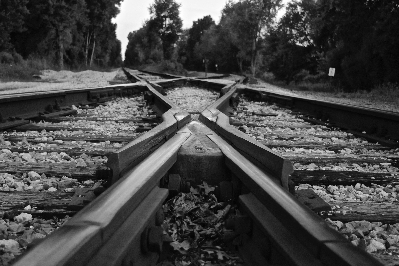 Railroad Tracks, Vinyl Wall Decal, Railroad Photography ...