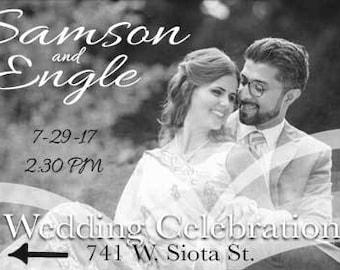 Wedding Banners, Vinyl Wedding Banner, Wedding Directional Banner, Personal Signs, Vinyl Graphics, Wedding Signs, Wedding Decor, Wedding