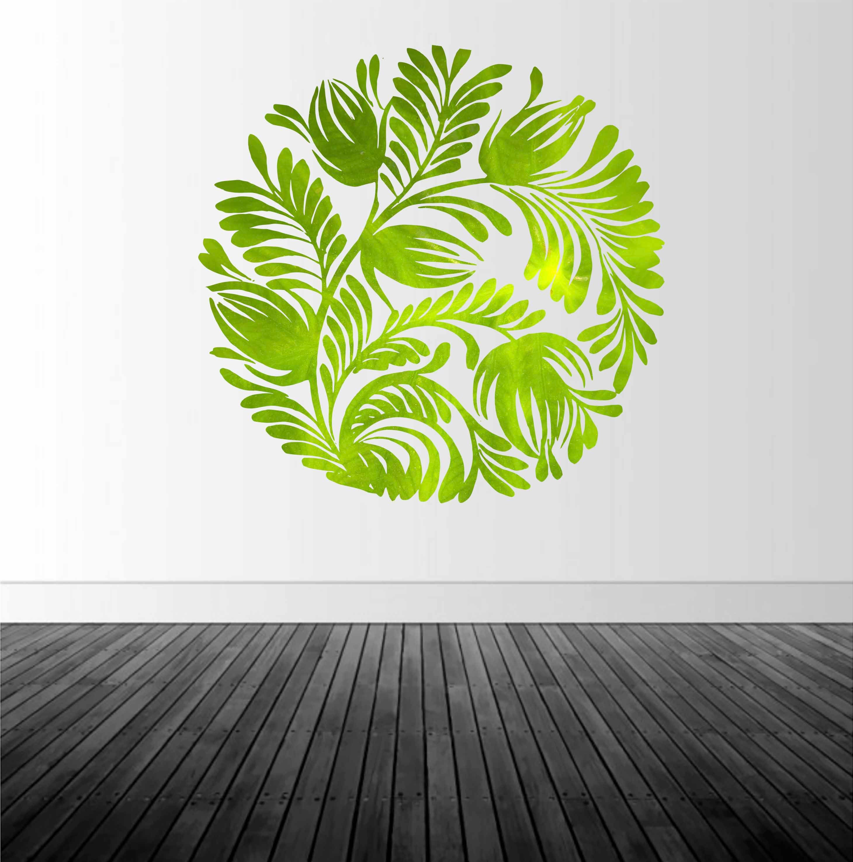 Home Decor Vinyl Wall Decal Wall Sticker Leaf Decal Leaf Texture