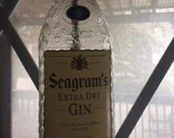 Seagrams Gin Recycled Liquor Bottle Wind Chime