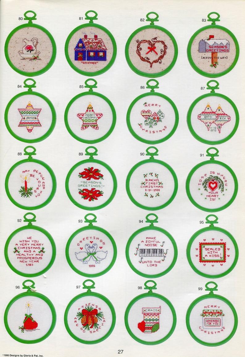130 Designs 1986  Mini Yuletide Cross Stitch Messages